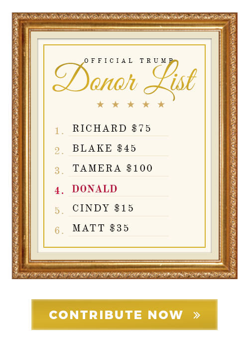 Official Trump Donor List