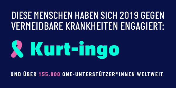 Erfolg der Kampagne für den Globalen Fonds: Kurt-Ingo and 155,000+ other ONE members